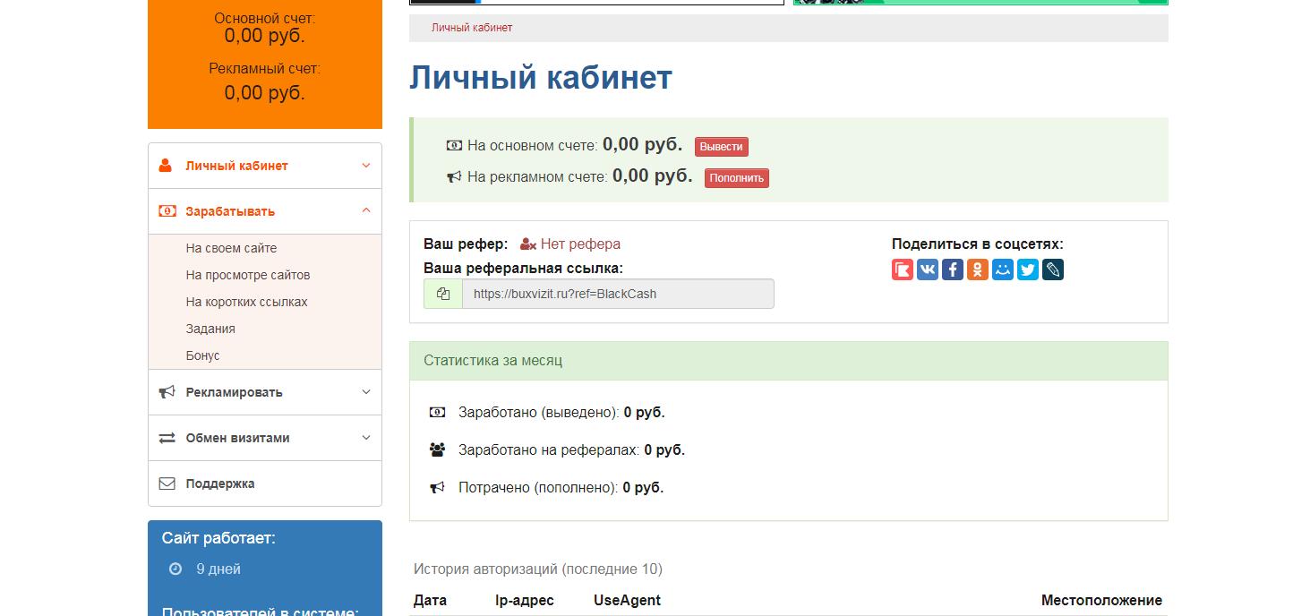 Скачать бесплатно скрипт букса BuxVizit