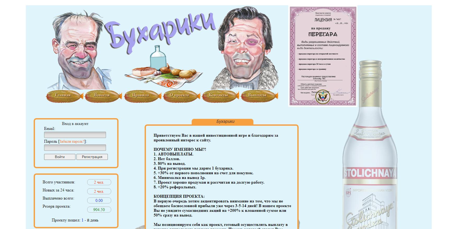 Скрипт игры Бухарики